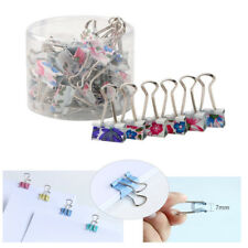 40 Pcs 19mm Cute Style Metal Binder Clips Paper Clips Clamps Binding for Office
