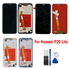 For Huawei P20 Lite LCD Display Touch Screen Digitizer Assembly Frame + Tool Set