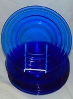 "8 Hazel Atlas MODERNTONE COBALT BLUE *8 7/8"" DINNER PLATES*"