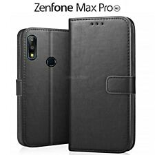 COVER per Asus Zenfone Max Pro M2 ZB631KL PORTAFOGLIO PELLE Nero Leather Case