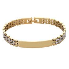 Men's Fashion Punk Stainless Steel Wristband Clasp Cuff Chain Bangle Bracelet