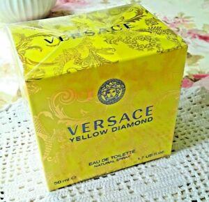 Versace Yellow Diamond Eau de Toilette EDT 50 ml Natur Spray Neu OVP
