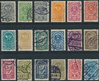 Stamp Austria SC 200-218 1919 Coat of Arms Post Horn Used