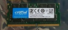 Crucial Memory CT16G4SFD8213 16 GB DDR4 2133 MT/s PC4-17000 DRx8 SODIMM 260-Pin