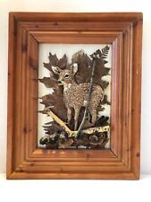 "Original Found Nature Objects Collage & Sculpture Of Young Deer In Woods ""McGee"""
