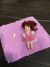 kelly doll barbies little sister red hair blue eyes pink dress with rattle