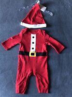 Carter's JOY Boys Infant Baby Santa Christmas Pajama 2 Piece Set Sz Newborn NWT