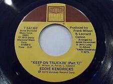 Eddie Kendricks Keep On Truckin' Part I & II 45 1973 Tamla Vinyl Record