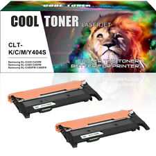 2 Pack Toner for Samsung CLT-K404S C430 SL-C430W C480 SL-C480W C480FW Printer