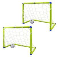 2 X Niños 1.2M Menor Fútbol Soccer Juego con Dos Objetivos 2 Bolas & Bomba NL10