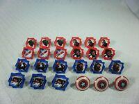 24 CAPTAIN AMERICA PLASTIC PARTY RINGS  (KVSFCP#1R0118)
