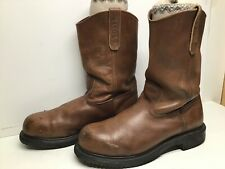 VTG MENS RED WING PECOS STEEL TOE EH WORK BROWN BOOTS SIZE 10.5 D