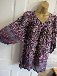MONSOON ● size 12 ● blue purple paisley blouse top womens