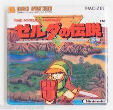Legend of Zelda Famicom FRIDGE MAGNET (2 x 2 inches) video game box