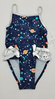 New FLAPDOODLES Toddler Girls Sizes 2T 3T Black Galaxy One-Piece Bathing Suit