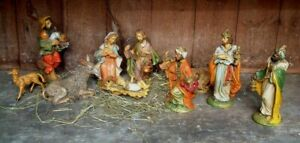 LARGE size NATIVITY - 10 lovely detailed figures from Italy - resin - Christmas