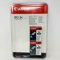 New Canon BCI-3e 2 Black Ink Tanks Genuine Printer Cartridge