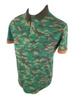 Mens Lacoste Live Army Camo Green Polo Shirt 5 Medium Large 40 Chest 26 Length