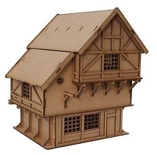 SCALA 28 mm 2mm TAGLIO LASER MDF Medievale/Fantasy Village Inn