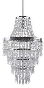 Crystal Light Shade, Modern Chrome Chandelier Ceiling Pendant Light Shades, 4