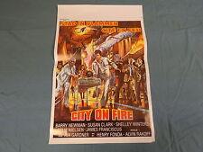 ORIGINAL MOVIE POSTER / AFFICHE CINEMA - CITY ON FIRE