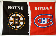 Boston Bruins vs Montreal Canadiens 3x5Ft Flag Banner HOUSE DIVIDED NHL