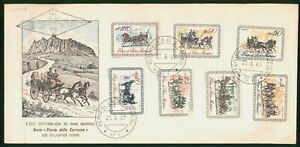 MayfairStamps Cover 1969 Combo 7 Horse & Carriage San Marino 1969 First Day Cove
