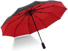 Krago Auto Open and Close 10 Fiberglass Ribs Umbrella – Compact Travel Umbrella