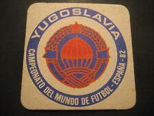 YUGOSLAVIA. POSAVASOS CAMPEONATO MUNDIAL DE FUTBOL ESPAÑA 82