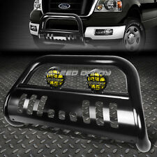 BLACK BULL BAR GUARD+YELLOW FOG LIGHT FOR 04-08 F150 NON-HERITAGE/07+ NAVIGATOR