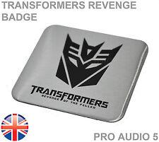 Transformers Revenge Car Badge - Boot Body van truck Vauxhall Ford VW Toyota UK