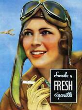 ADVERT CIGARETTE AVIATOR CAMEL TOBACCO FRESH SMOKE ART PRINT POSTER BB6738