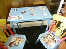 Shabby Chic Dining Table & 2 Chairs american diner inspired