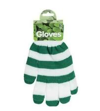 St. Patty's Day GREEN and WHITE Stripe Gloves Unisex One Size Fits Most