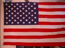 "Embroidered & Sewn American / United States Flag 58""X118"" / 4'10""X 9'10"""