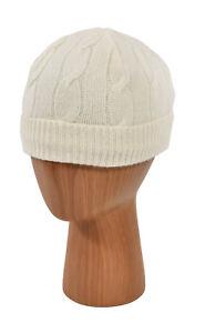 Women's Ralph Lauren Purple Label Cashmere Cable Knit Beanie Hat XS/S New $390