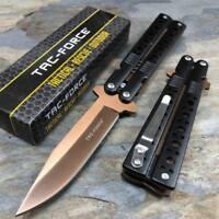 Tac Force Spring Assisted Bronze Blade Folding Aluminum Handle Pocket Knife