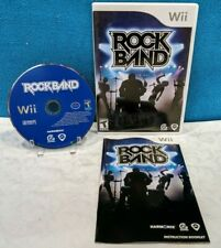 Rock Band (Nintendo Wii, 2008) with Manual - Tested & Working