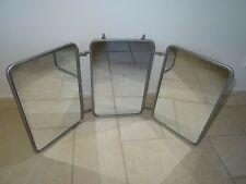 ancien GRAND miroir triptyque salle de bain deco art populaire vintage