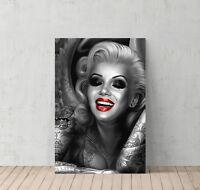 Marilyn Monroe and Tattoos Decorative Art Canvas Print Modern Wall Décor Artwork