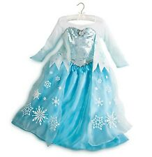 Disney Store Frozen Elsa Costume Dress Size 4 5 6 7 8 10