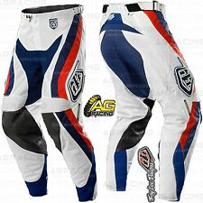 "Troy Lee Designs 2015 SE Pro Corse White Race Pants 30 inch 30"" Motocross Enduro"
