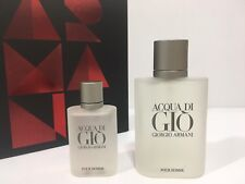 ACQUA DI GIO BY GIORGIO ARMANI MEN COLOGNE GIFT SET EDT SPRAY 3.4 OZ + 1 OZ NIB