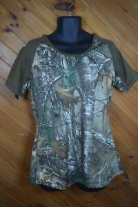 Cabela's Female OutfitHer Hunting Shirt L Camouflage - VGC - Free Postage