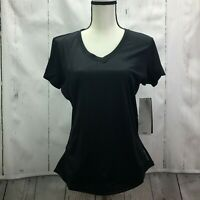 HEAD Women's Emily Short Sleeve Dri Motion Top Black Heather Size Large