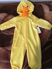 Halloween 12 Month Baby Duck One piece Outfit Yellow