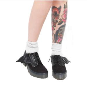 IRON FIST - Walking In My Web Black Platform Oxford Shoes