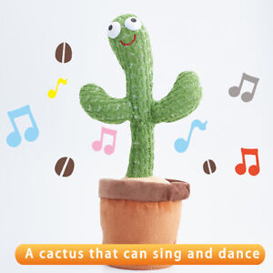 Cactus Plush Toy Electronic Shake Dancing toy with the song plush cute Dancing*