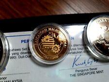 Malaysia 1986 RMK5 Set of 3 Gold Proof Set