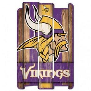"""Minnesota Vikings Wood Fence Sign 11""""x17"""" [NEW] NFL Wall Man Cave Fan Wall"""